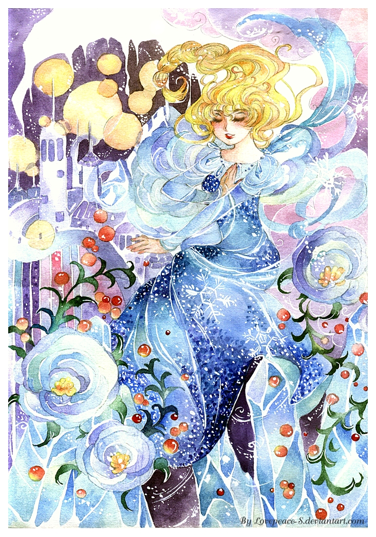 Elsa : Maybe snow fall tonight by Lovepeace-S
