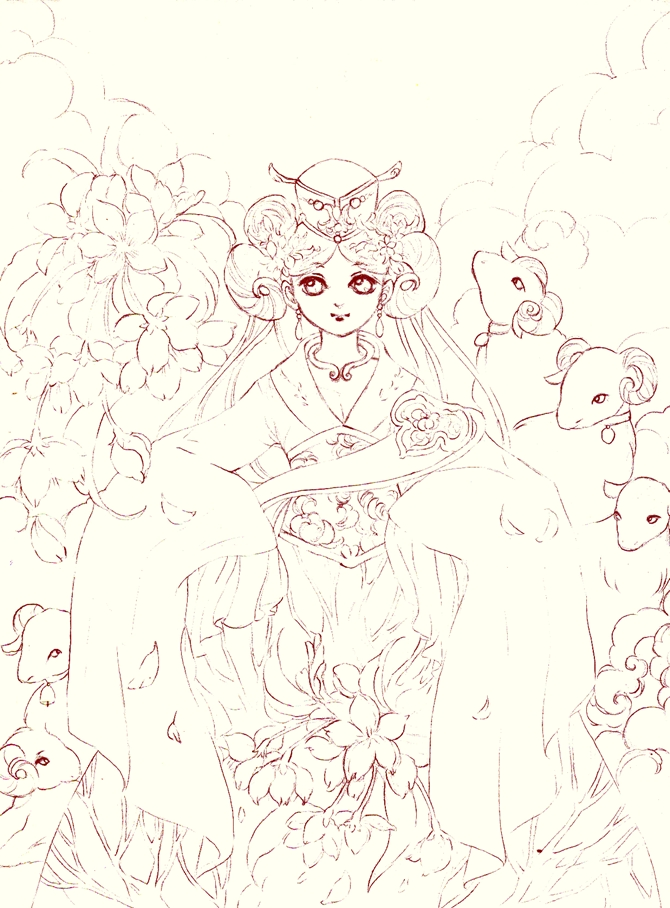 wip : goat year by Lovepeace-S