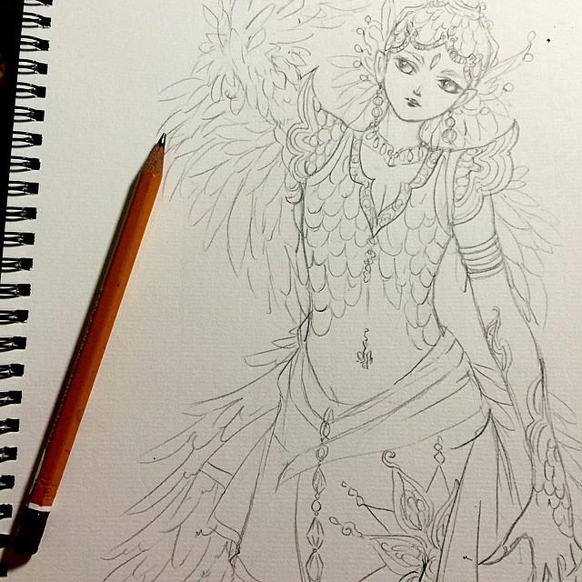sketch : Garuda by Lovepeace-S