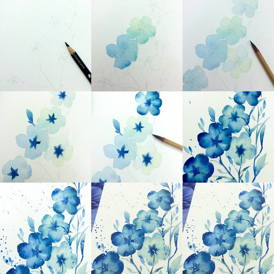 tips color flower with blue by Lovepeace-S
