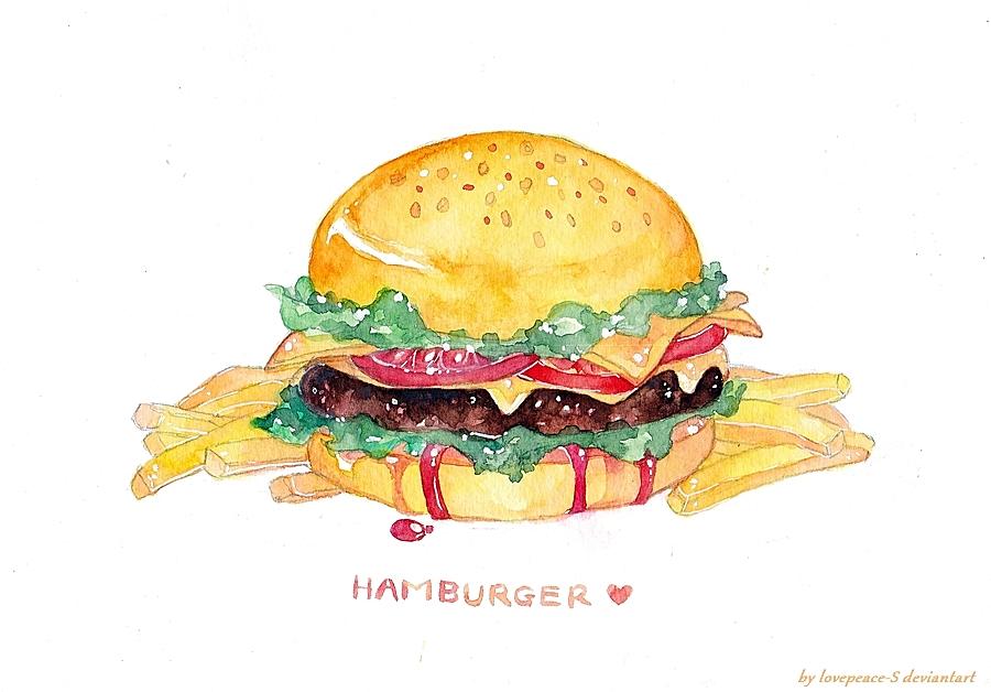 hamburger by Lovepeace-S