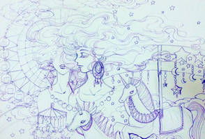 lineart : Traveler Daydream 1 by Lovepeace-S