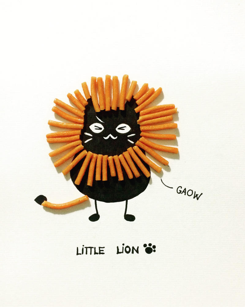 little lion  by Lovepeace-S