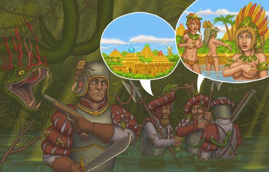 Conquest of new world: golden cities and amazons