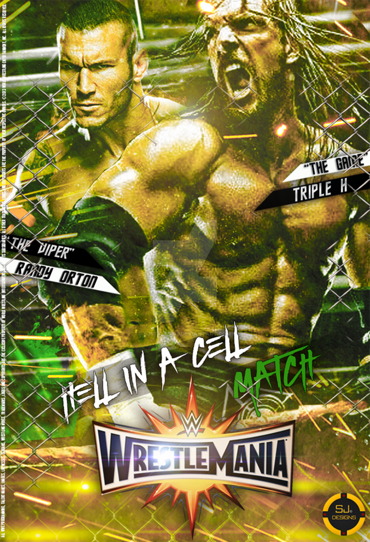 Wrestlemania 33 Poster by Sjstyles316