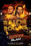 Seth rollins vs finn balor poster