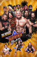 summerslam 2017 poster v2 by Sjstyles316