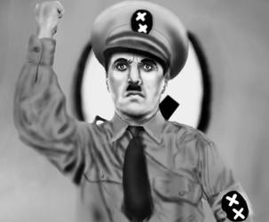 Image result for chaplin great dictator heil