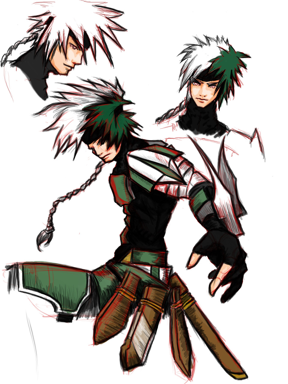 Character Design Manga Anime : Character design ninja by nickedge on deviantart