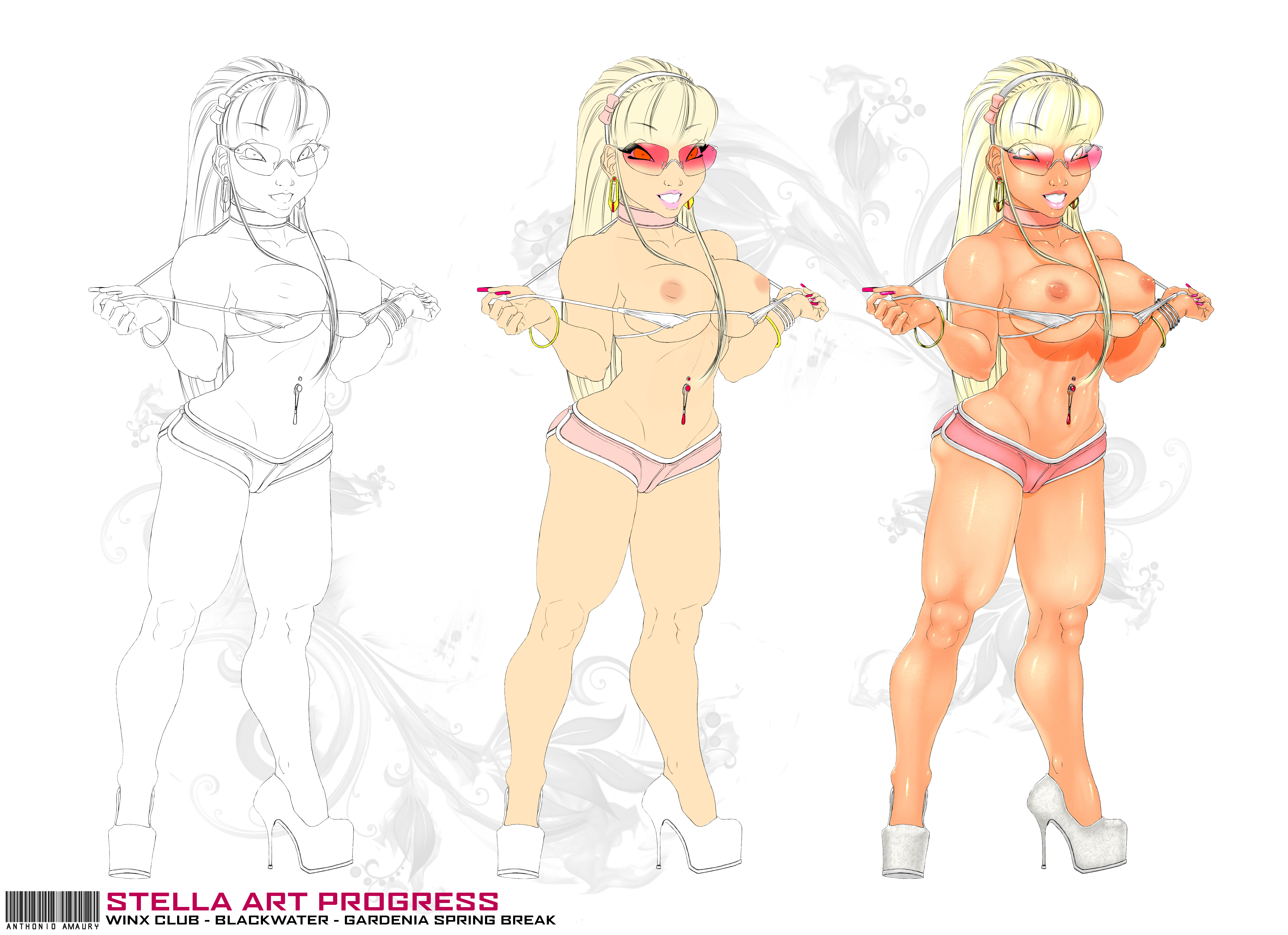 STELLA - Art Progress by amaury2502