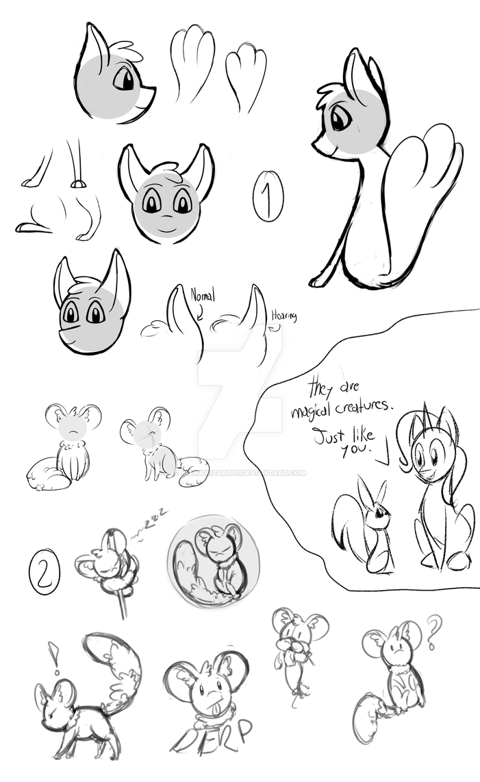 Doodles-Creatures by KiaraWizard01
