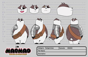 Badgerclops Character Sheet (Fanmade comission)