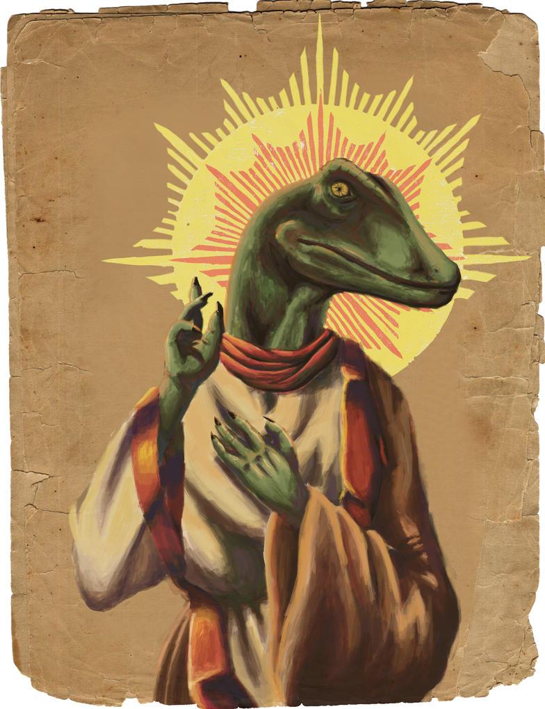 raptor jesus by oncemoretotheshore on deviantart