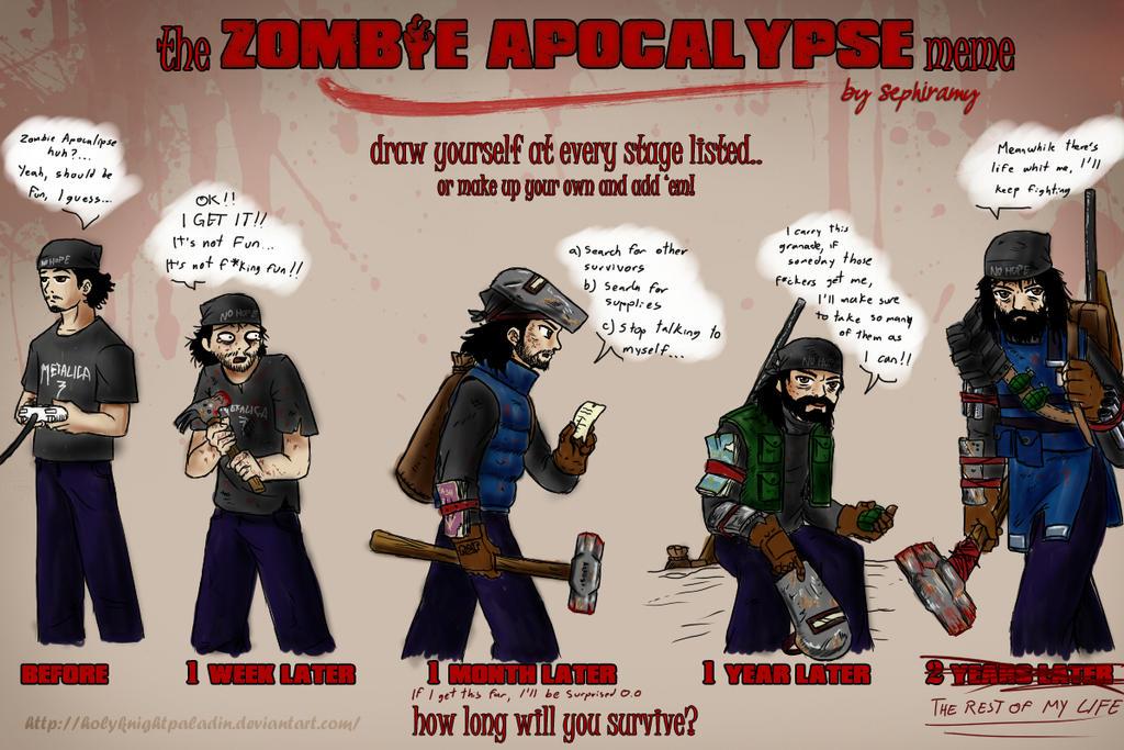 Zombie Apocalypse Meme... HolyKnightPaladin