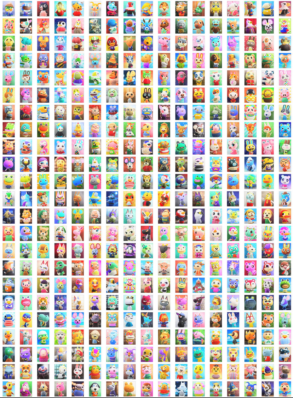 All 391 Villagers in Animal Crossing New Horizons by ...