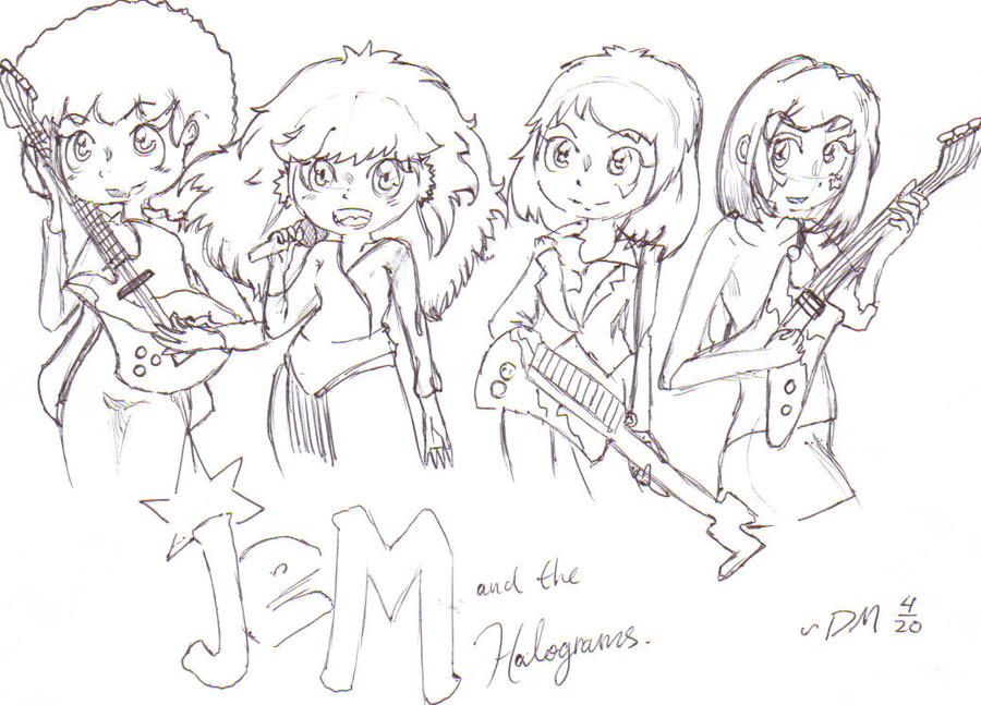 jem and the holograms coloring pages - chibi jem and the holograms by rainbowjackk on deviantart