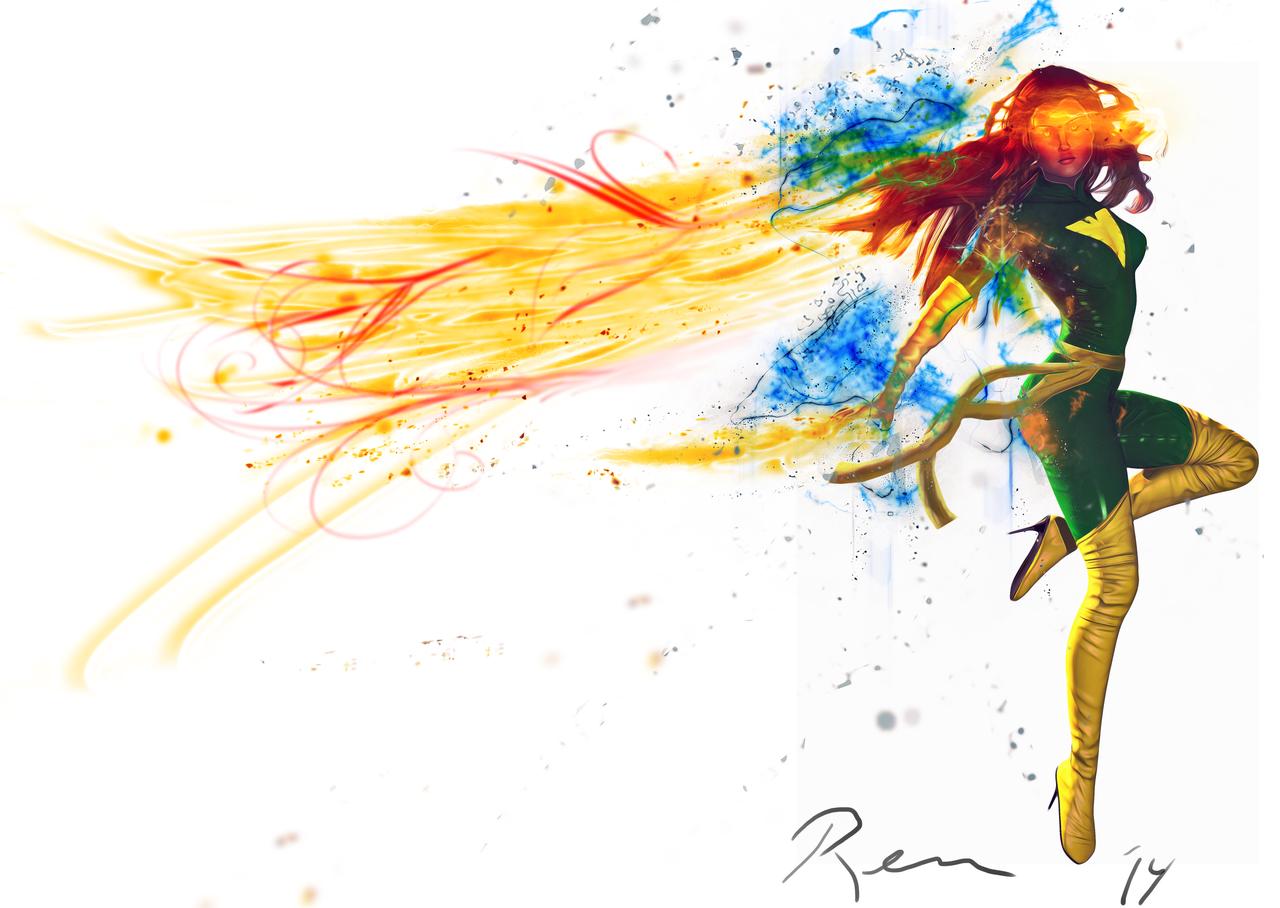 Jean the Phoenix Print by Pleblu