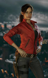Claire Redfield RE2 remake Iray