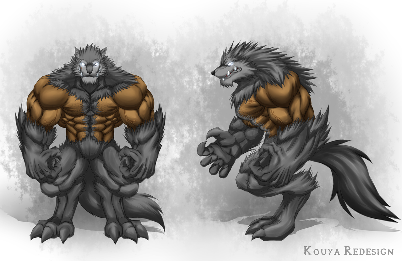 Kouya Wolfang Redesign (Werewolf Form) by WarGreymon43