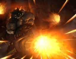 Werewolf Gunner by TitanDraugen