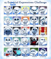 25 EsSANStial Expressions Challenge by TitanDraugen