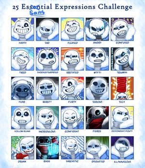 25 EsSANStial Expressions Challenge