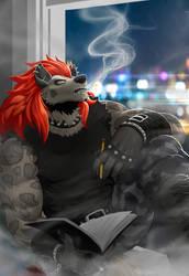 Smoking Poet
