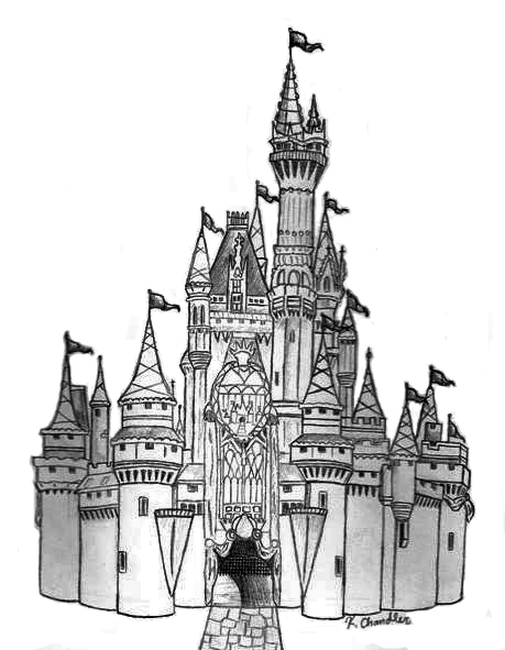 Go Back gt Gallery For Cinderella Castle Simple Drawing