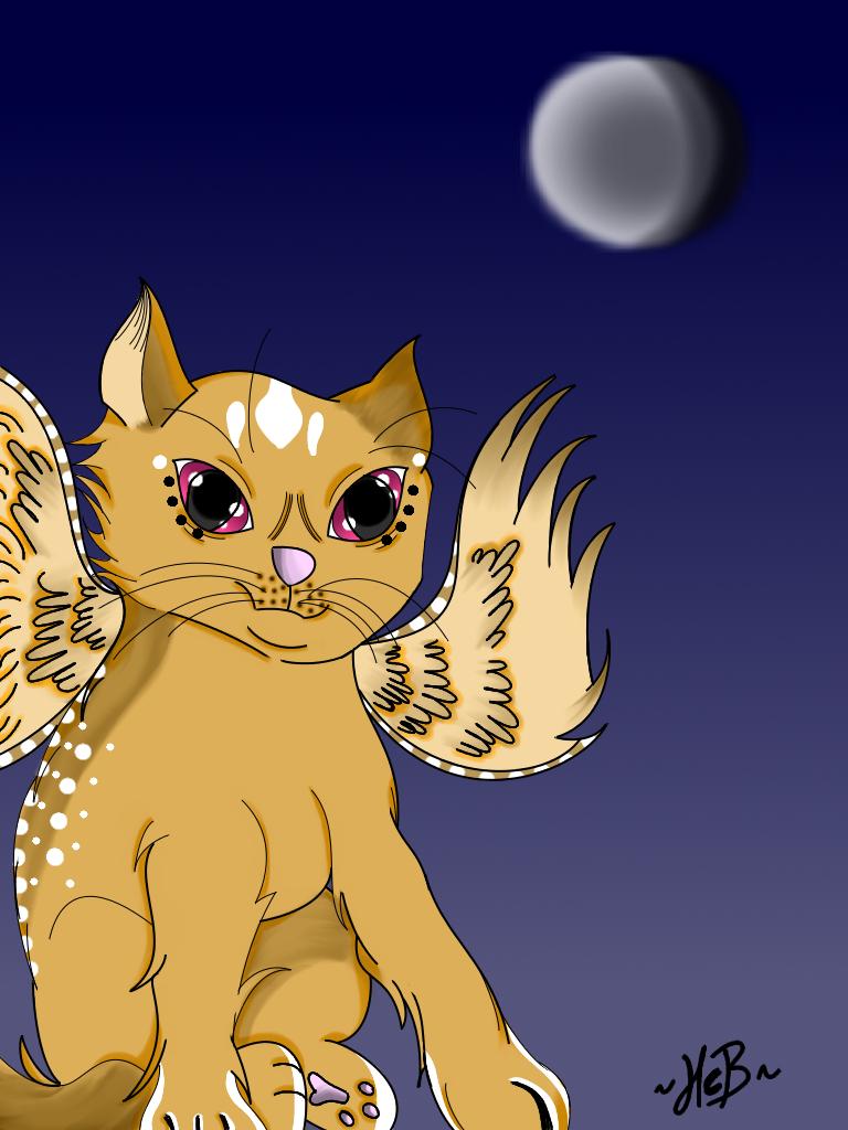 Winged kitten progress~ by TheElementOfMagic