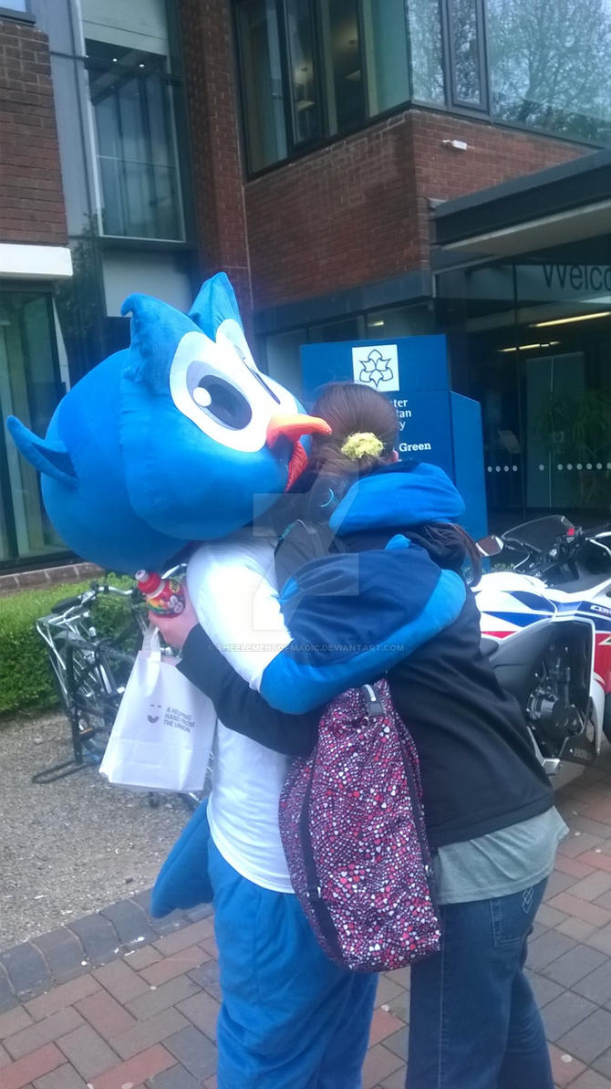MMU: Me and the big, blue bird. :3 by TheElementOfMagic