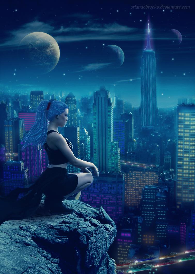 City Lights by OrlandoBrooks