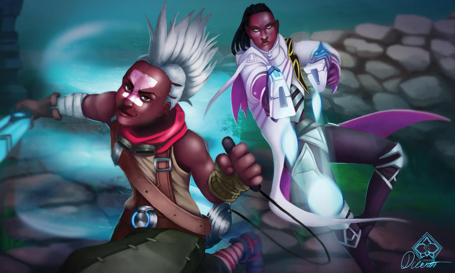 Commission: Ekko and Lucian by Dicenete