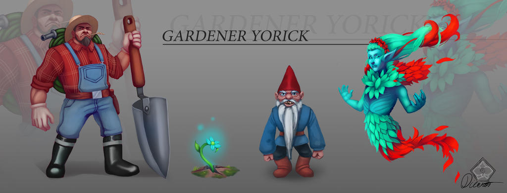 Fanskin concept - Gardener Yorick by Dicenete