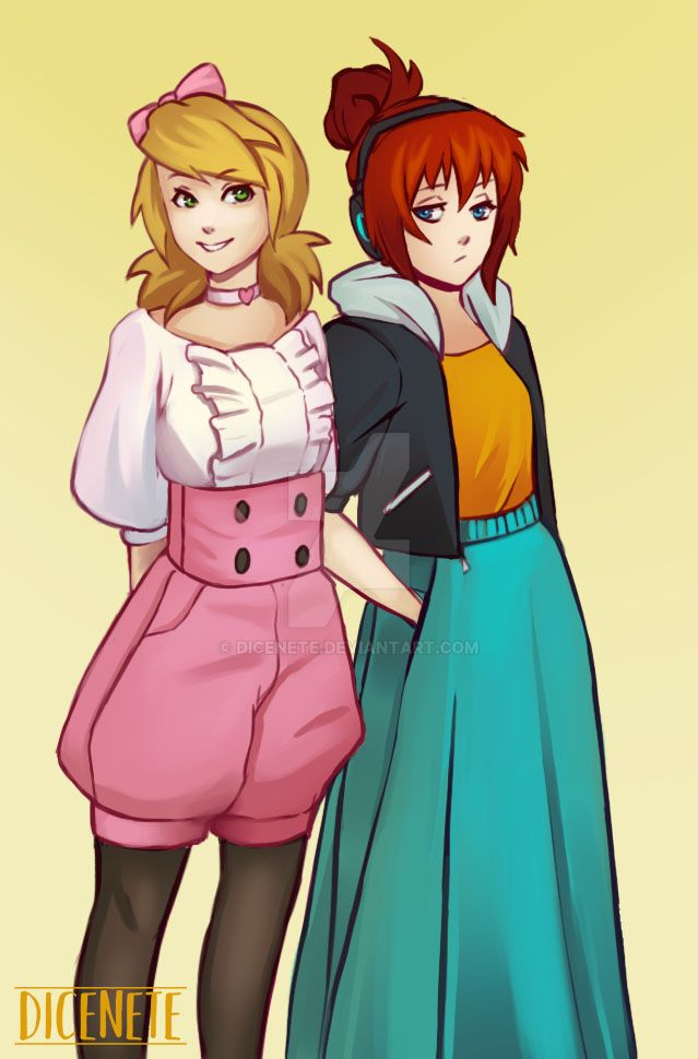 Hikari and Yumi - Some street fashion by Dicenete