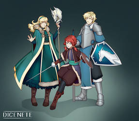 Falk Siblings by Dicenete