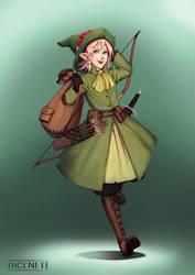 Rosa - Wood Elf Ranger by Dicenete