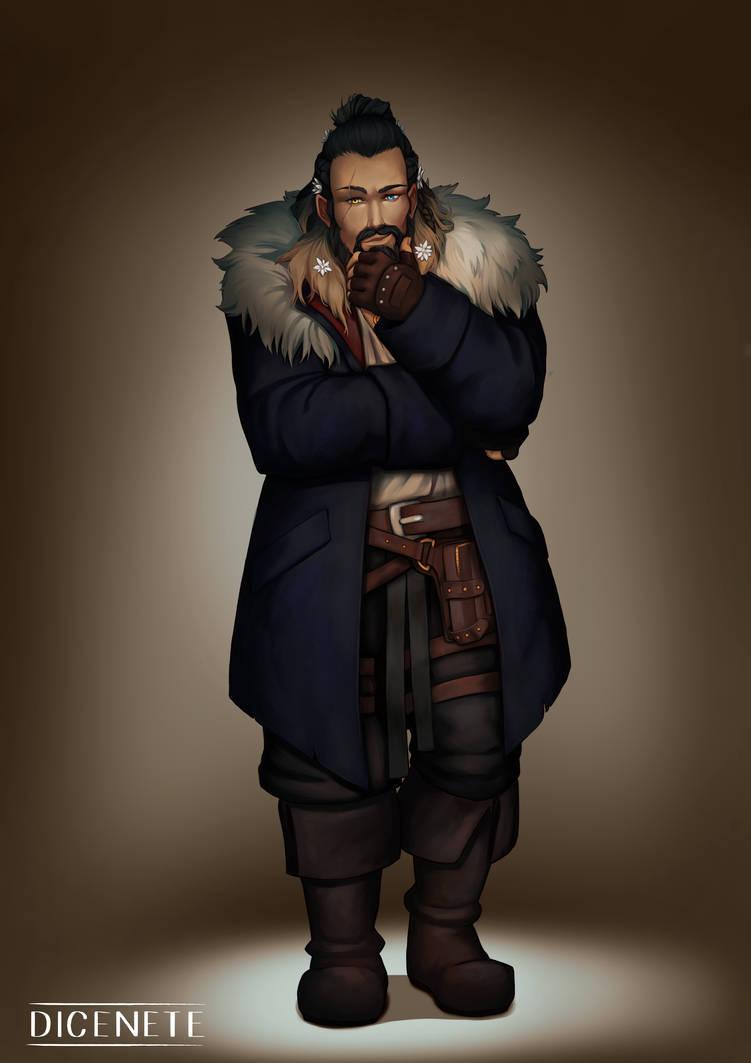 Torfinn - Dwarf Rogue - DnD Commission by Dicenete