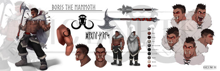 Character Sheet Commission - Boris the Mammoth