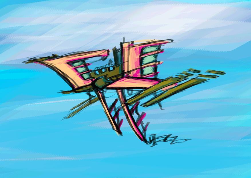 Outrigger Sky Vessel by aquietfrog