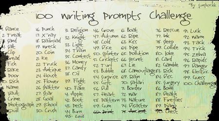 100 Writing Prompts Challenge by Sunshockk