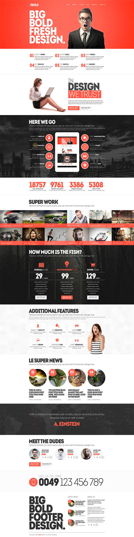 BBold Free PSD Template by donkeythemes