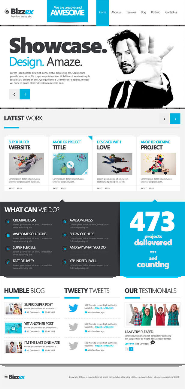 Bizzex Free PSD Template by donkeythemes