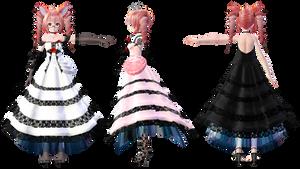 TDA Teto Lace Dress Ver2.5 DL Models by HestiaSama