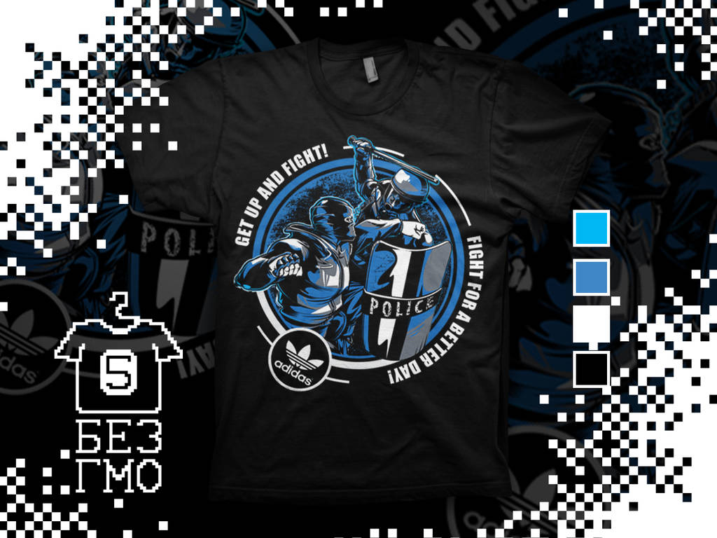 e218be23c T-shirt design Get up and Fight by BezGMO on DeviantArt