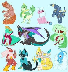 Fanart: Pokemon doodles by Kaisid