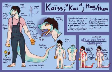 Ref sheet: Kai (sona) by Kaisid