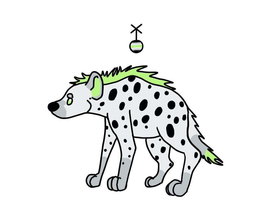 Agender Hyena by Kierbyy