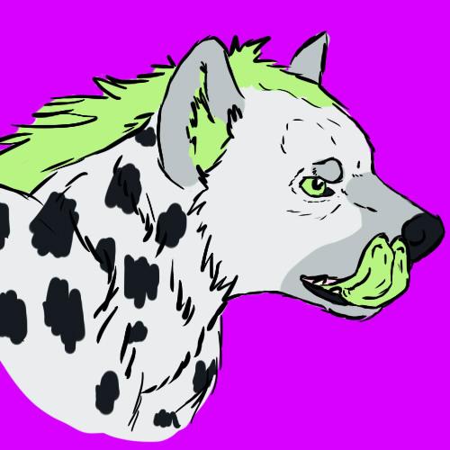 Agender Hyena Profile Pic by Kierbyy