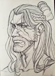 Daily sketch - 03 Geralt of Rivia by 6Yami6Maru6