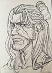 Daily sketch - 03 Geralt of Rivia by Rafi-ky